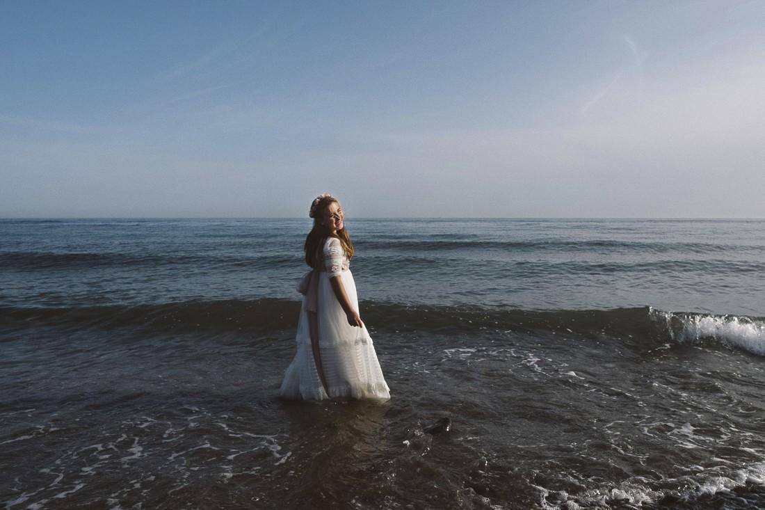 Fotos divertidas de post comunión en la playa