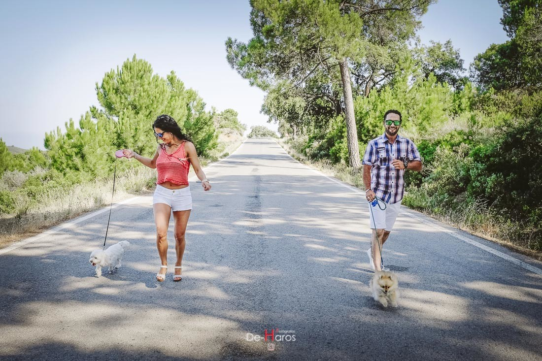 Fotografías divertidas de preboda en Estepona